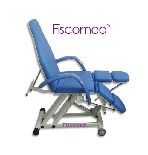 Cadeira De Podologia Azul Semi-Elétrica Na Elevação Brinde