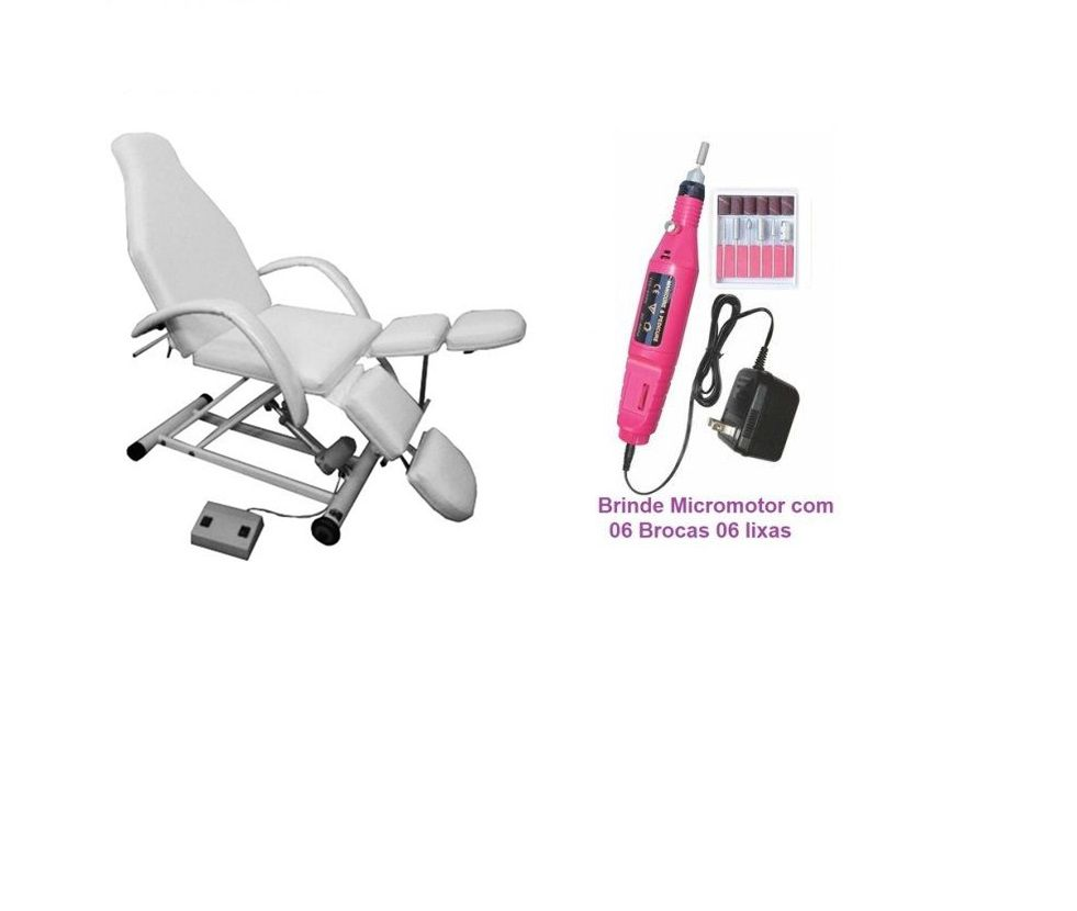 Cadeira de Podologia Elétrica na Elevação e Encosto Fiscomed