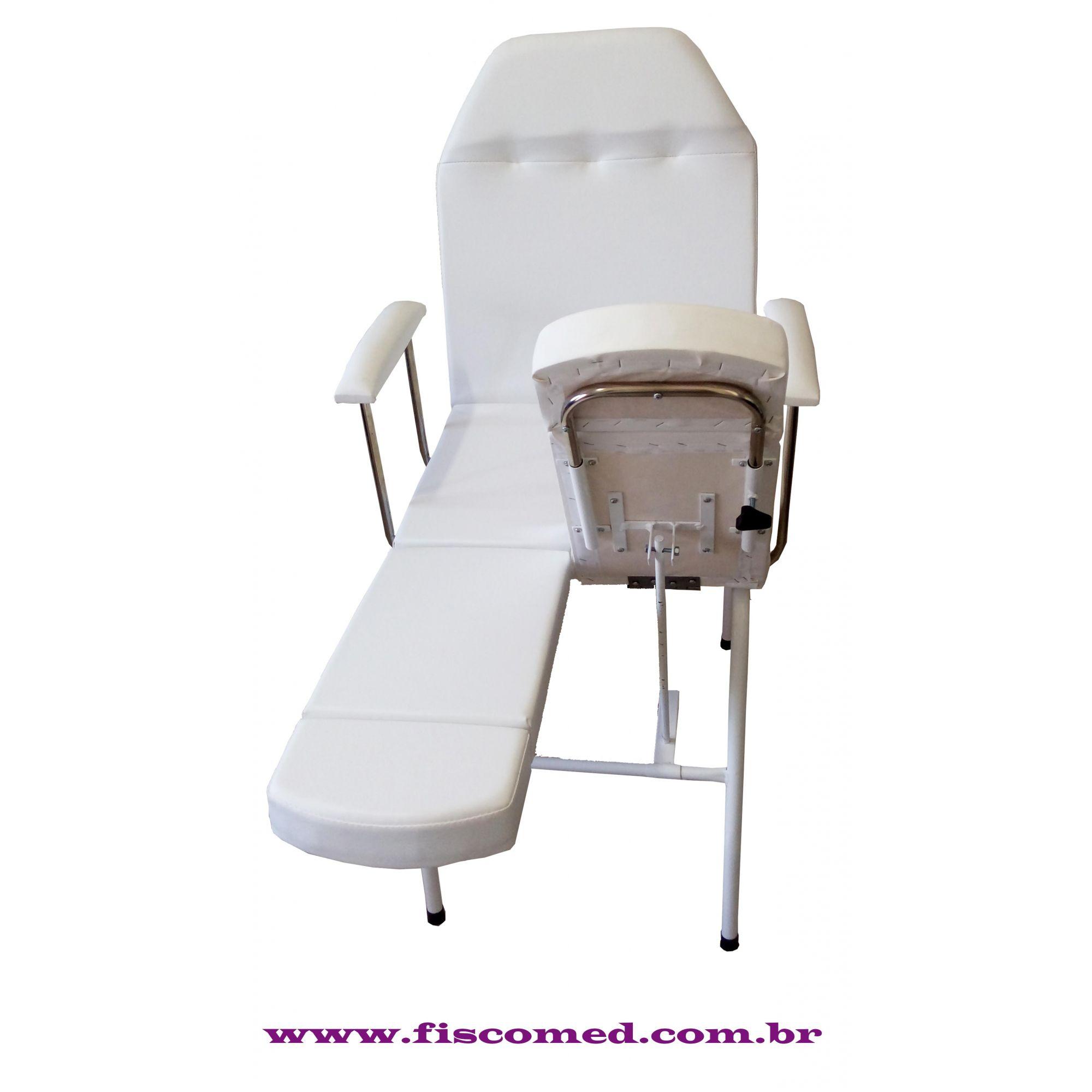 Cadeira de Podologia Mecânica Ajuste na Biperna  Com Prolongador de Perna