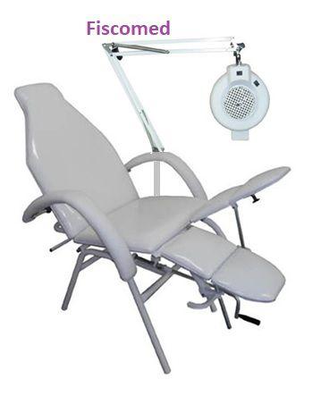 Cadeira De Podologia Mecânica Com Exaustor E Luminária Brinde
