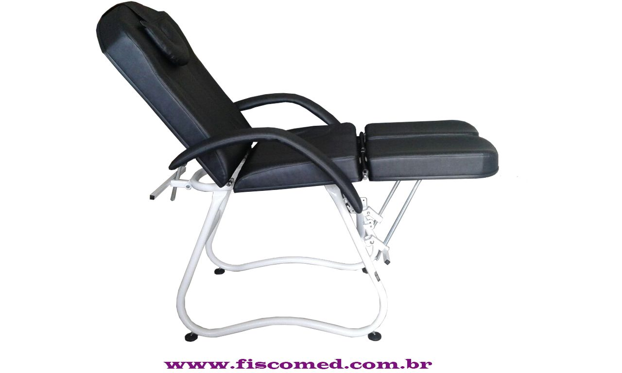 Cadeira Para Podologia Mecânica Preta