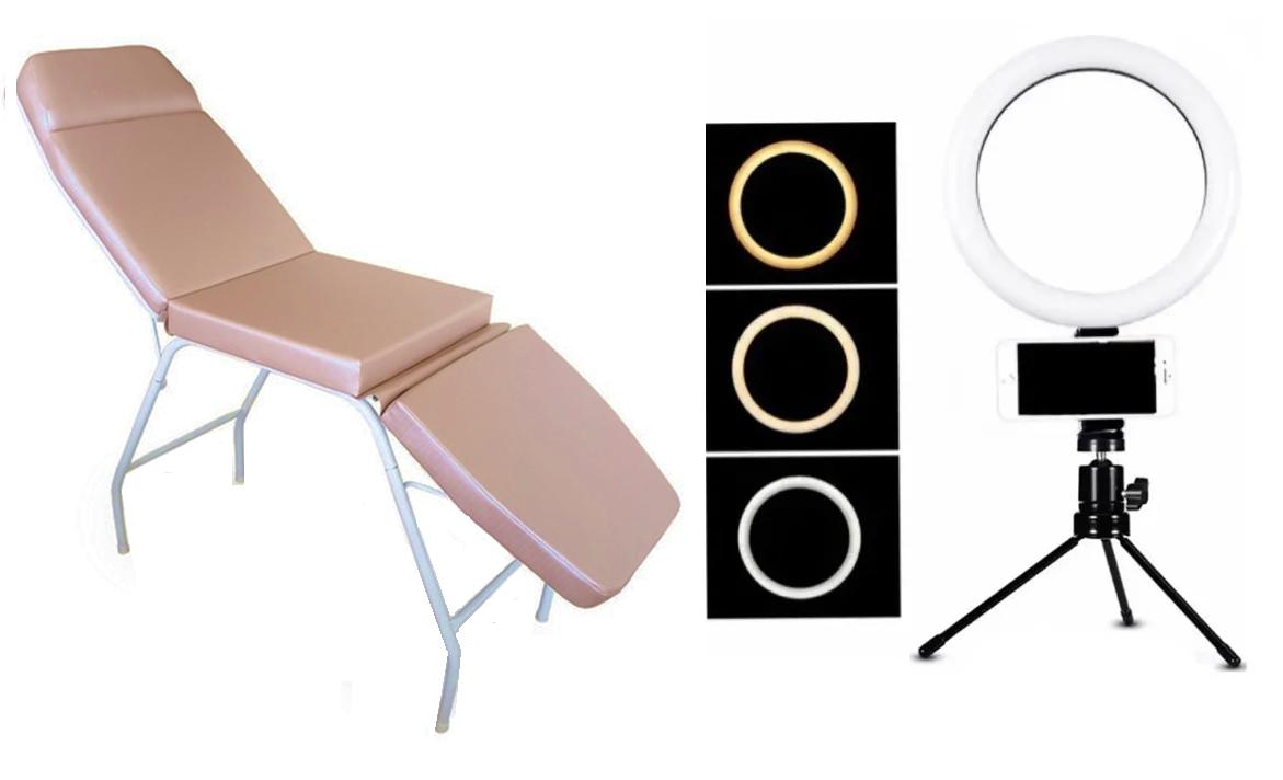 Cadeira Maca 3 Posições Rose Gold Brinde