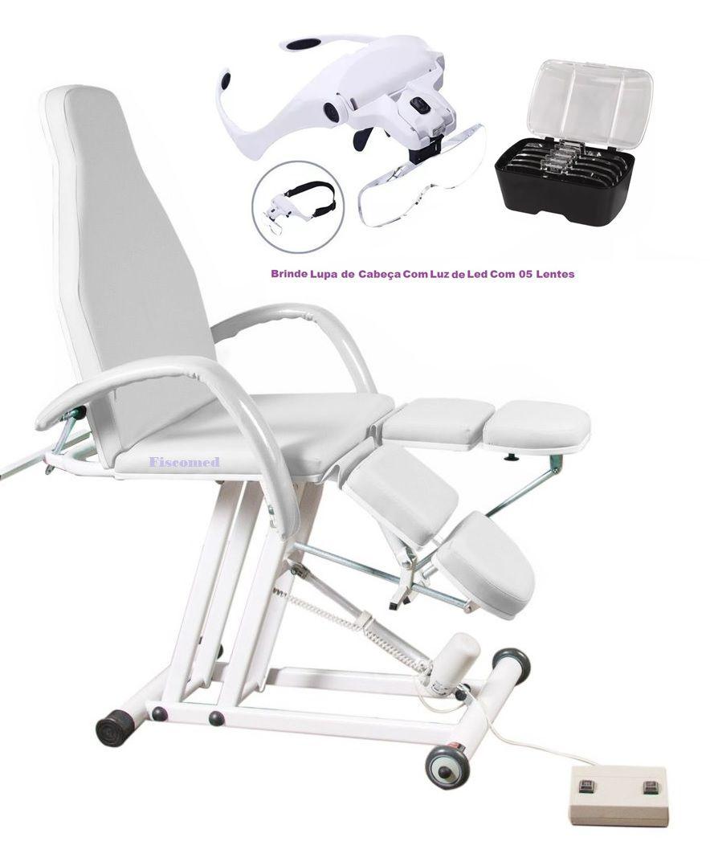 Cadeira Maca de Podologia Elevação Elétrica Luxo