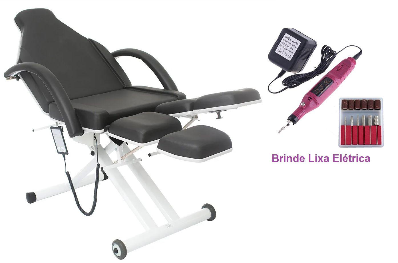 Cadeira Maca Podologia Elevação Elétrica Lux
