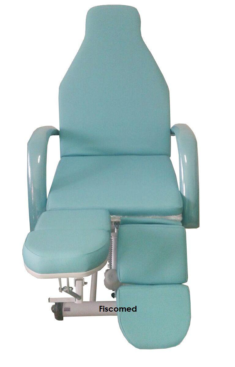 Cadeira Maca Verde de Podologia Elevação Elétrica Luxo