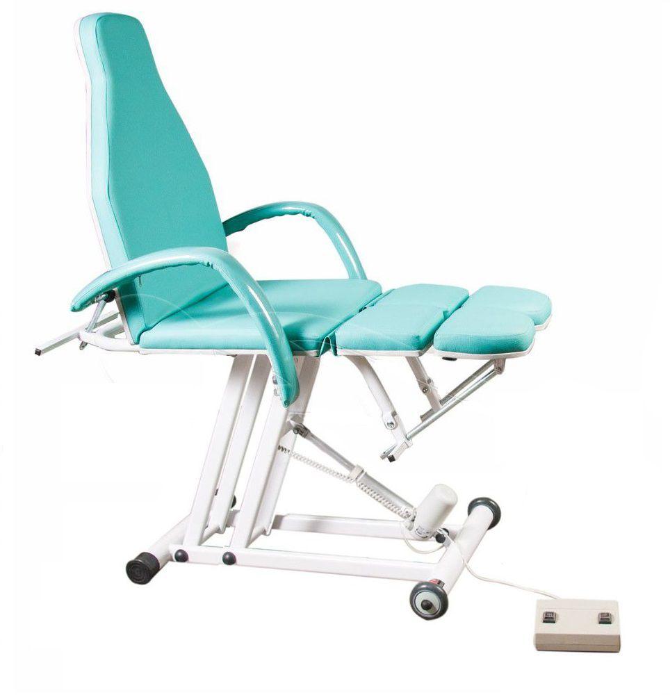 Cadeira Maca Verde de Podologia Elevação Elétrica Luxo Brinde
