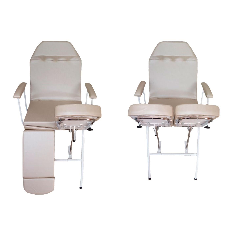 Cadeira Mecânica para Podologia Bege com Prolongador