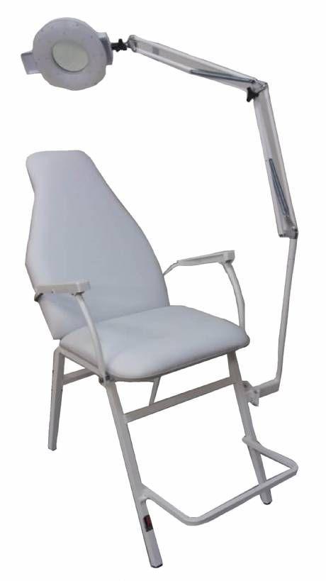 Cadeira Poltrona Reclinável Com Lupa para Estética e Tatuador Confortável