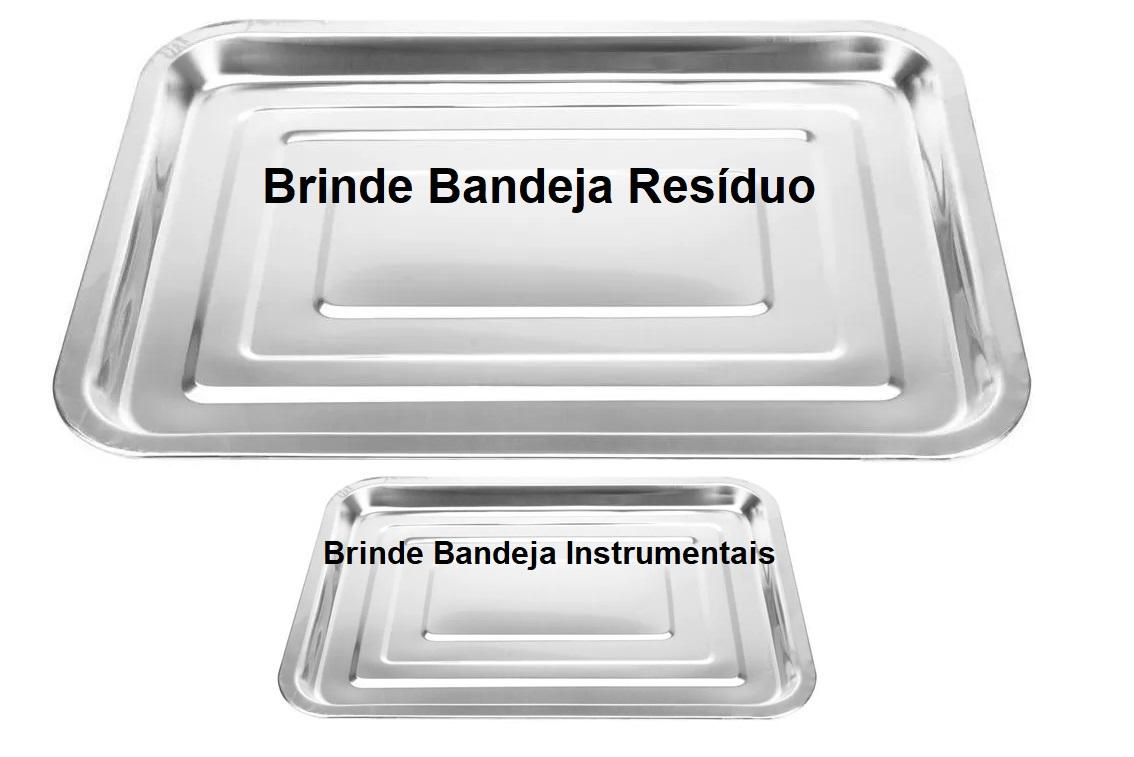 Kit Básico Podologia Cadeira Mecânica Mocho à Gás Brinde