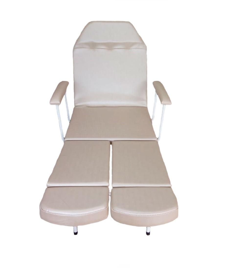 Kit Bege Básico Cadeira de Podologia e Mocho Brindes