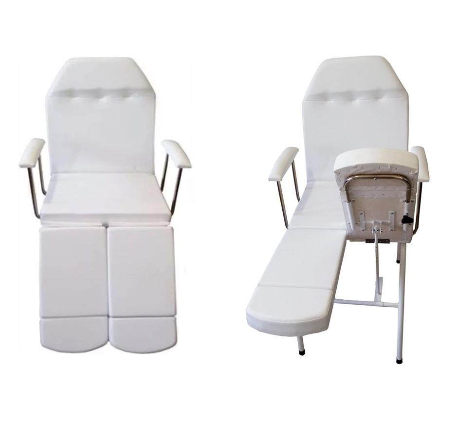 Kit Cadeira Para Podologia Mocho Luminária Exaustor e Brindes