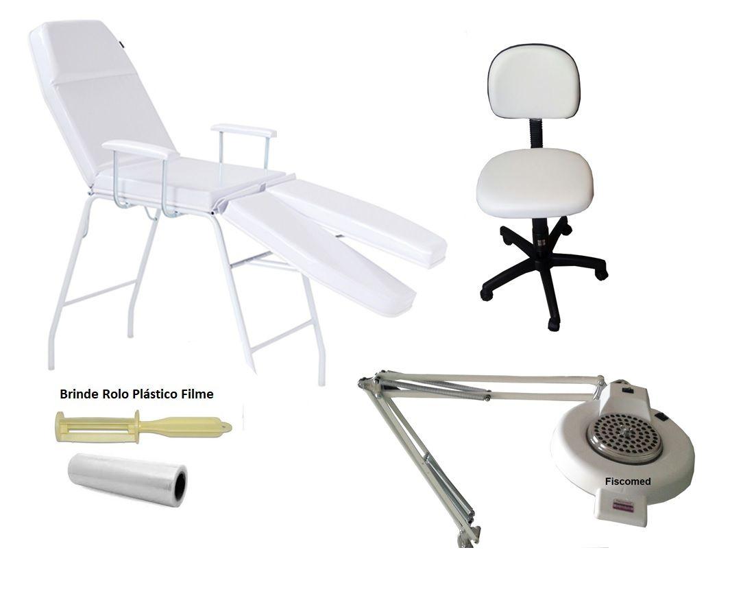 Kit Cadeira Mecânica Mocho Exaustor com Luminária Brinde