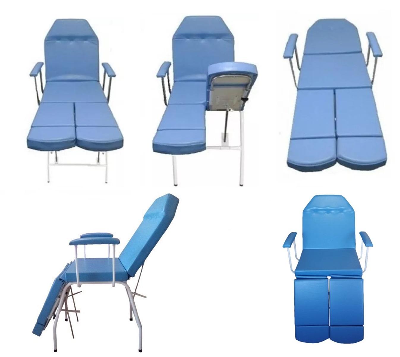 Kit Cadeira Podologia Azul Mocho Armário 3 Gavetas Luminária com Exaustor Brinde