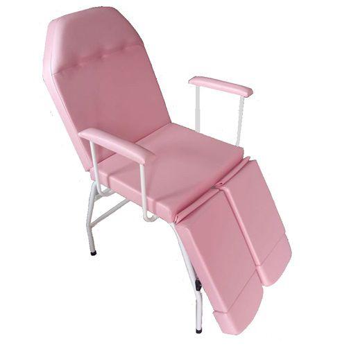 Kit Cadeira Podologia Rosa  Mocho Armário Luminária Exaustor Brinde Fiscomed