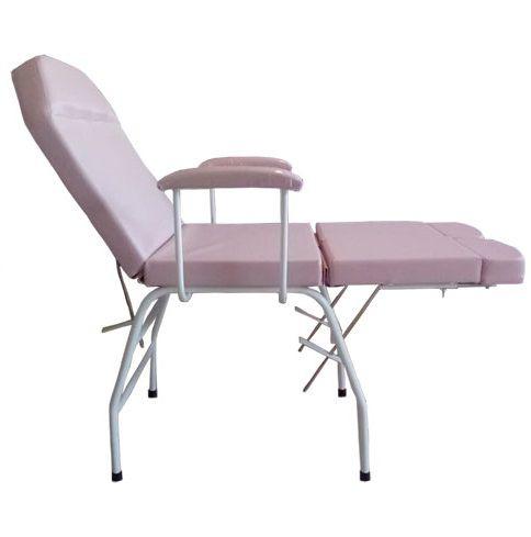 Kit Cadeira Podologia Rosa  Mocho Armário 3 Gavetas Luminária com Exaustor Brinde