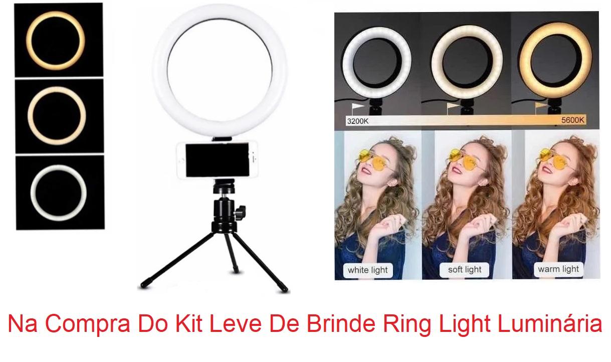 Kit Estética Poltrona Maca Mocho à Gás Armário Escada Lupa Brinde Luminária Ring Light