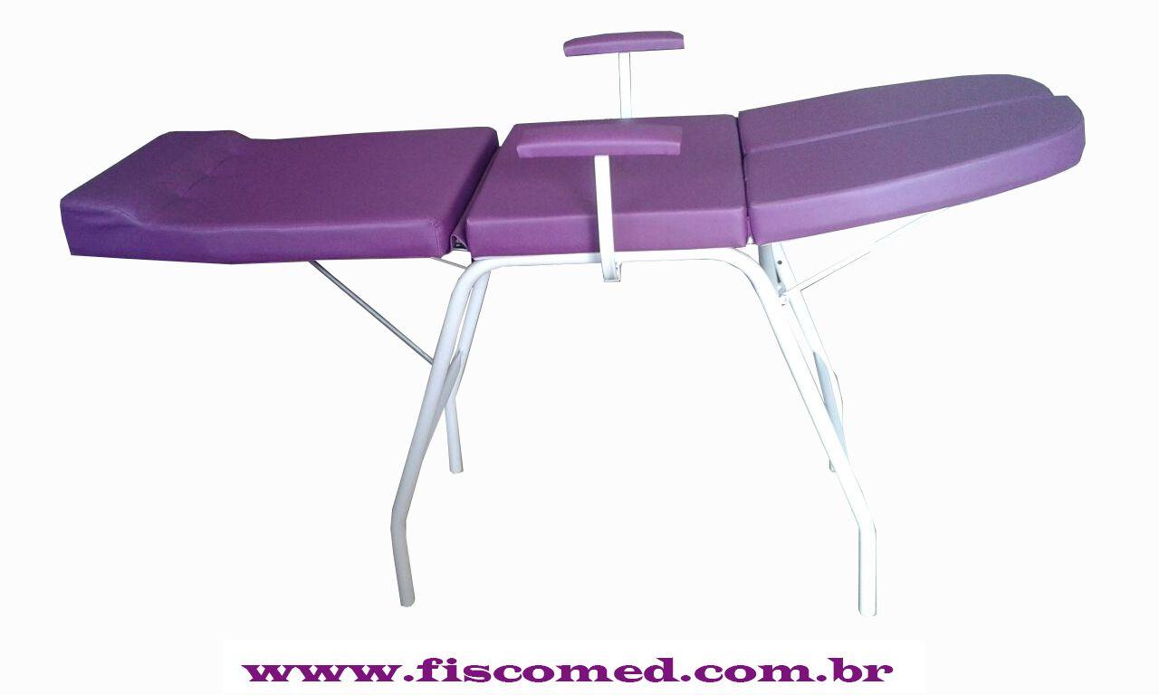 Kit Maca Podologia Roxa Carrinho Mocho Exaustor com Luminária Brinde Micromotor
