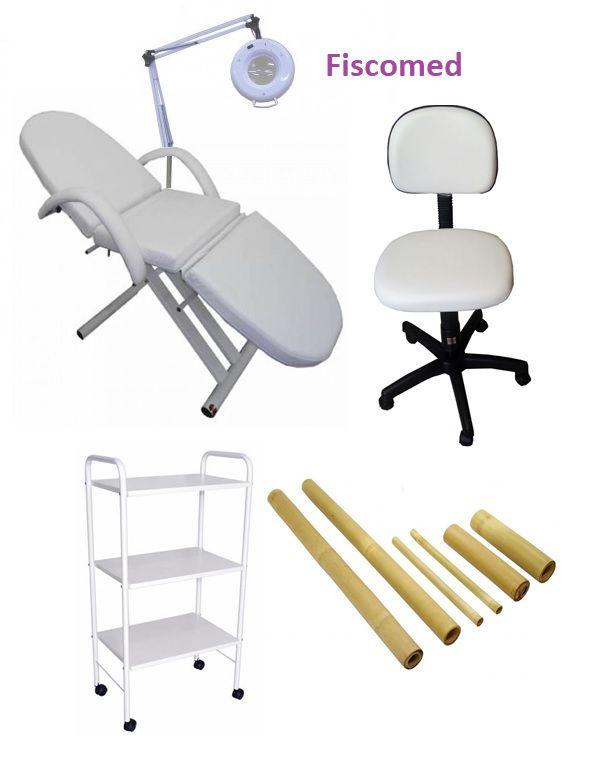Kit Para Estética Luxo Completo e Leve de Brinde Kit de Bambuterapia