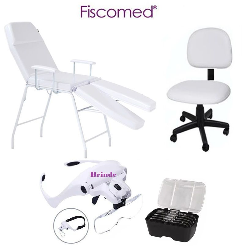 Kit Podologia Básico Branco Maca e Mocho Fiscomed
