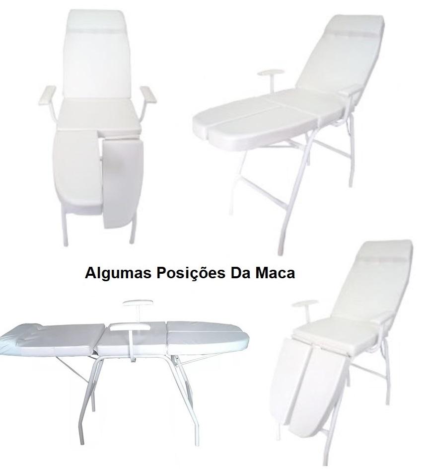 Kit Podologia Cadeira Mecânica Mocho Escada Brinde Rolo Plástico Filme