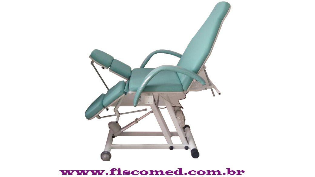 Kit Podologia Cadeira Semi-elétrica e Mocho à Gás