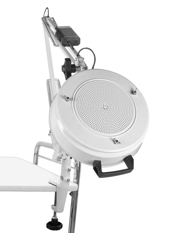 Kit Podologia Cadeira Semi Elétrica Mocho à Gás Exaustor Com Luminária Brinde
