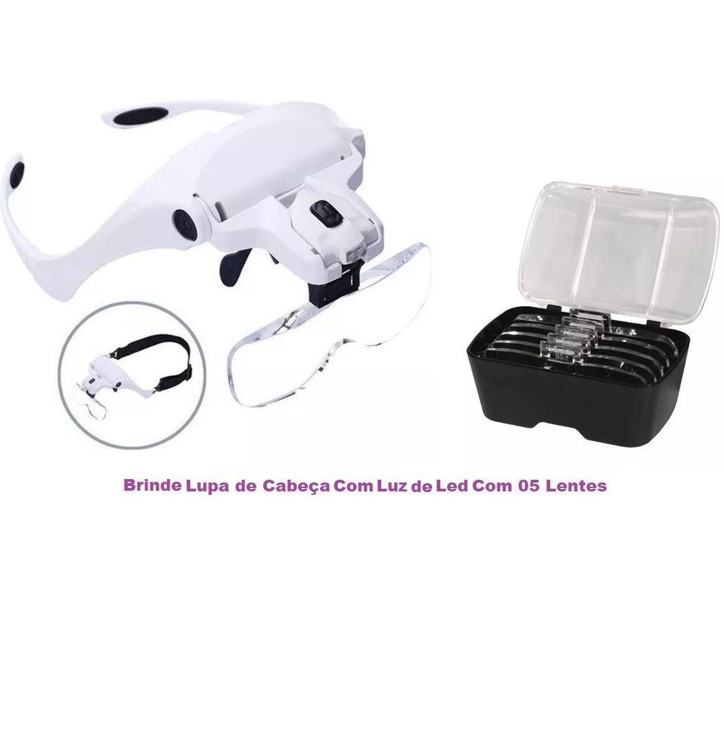 Kit Podologia Cadeira Semi-Elétrica, Mocho Exaustor Carrinho Brinde Micromotor