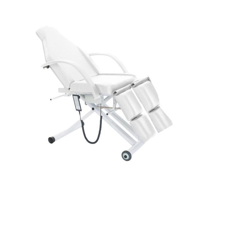 Kit Podologia Maca Cadeira Acetinada Semi Elétrica, Mocho, Exaustor, Carrinho Brinde