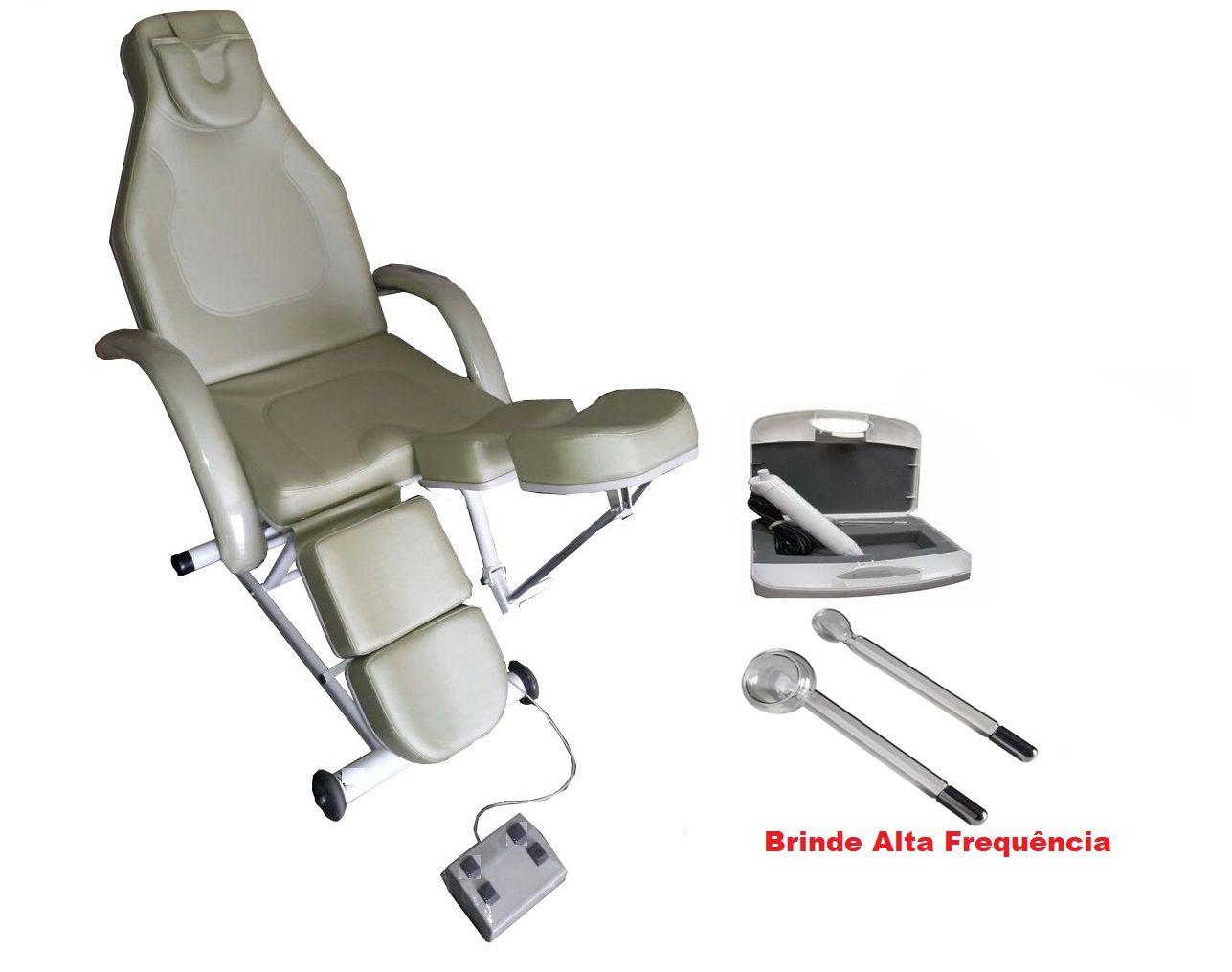 Maca Cadeira Para Podologia Semi Elétrica Elevação e Dorso