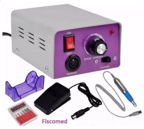 Micromotor para Podologia com 06 Brocas e Lixas de Brinde