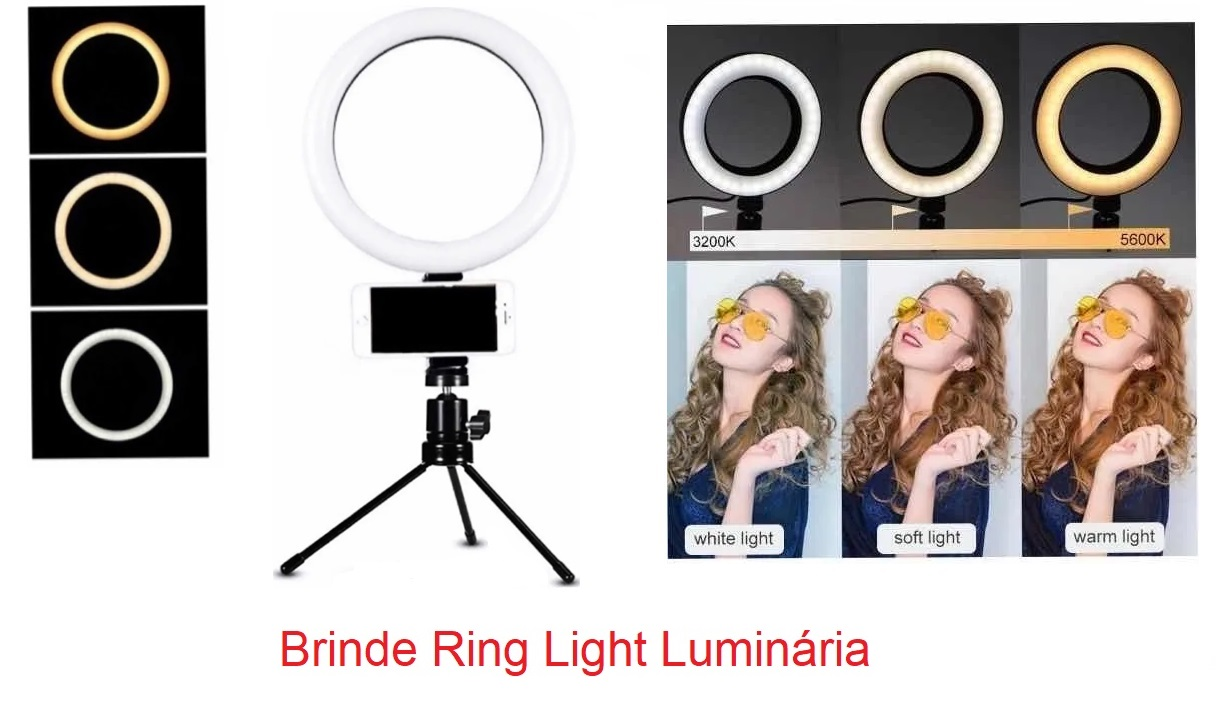 Poltrona Para Designer de Sobrancelha Reclinável Brinde 01 Luminária Ring Light