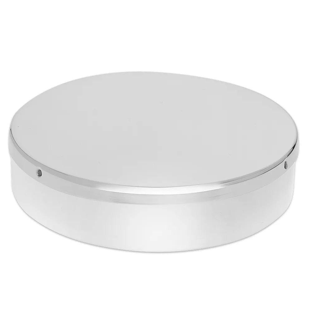 Porta Gaze Tubular 13x3cm Aço Inoxidável
