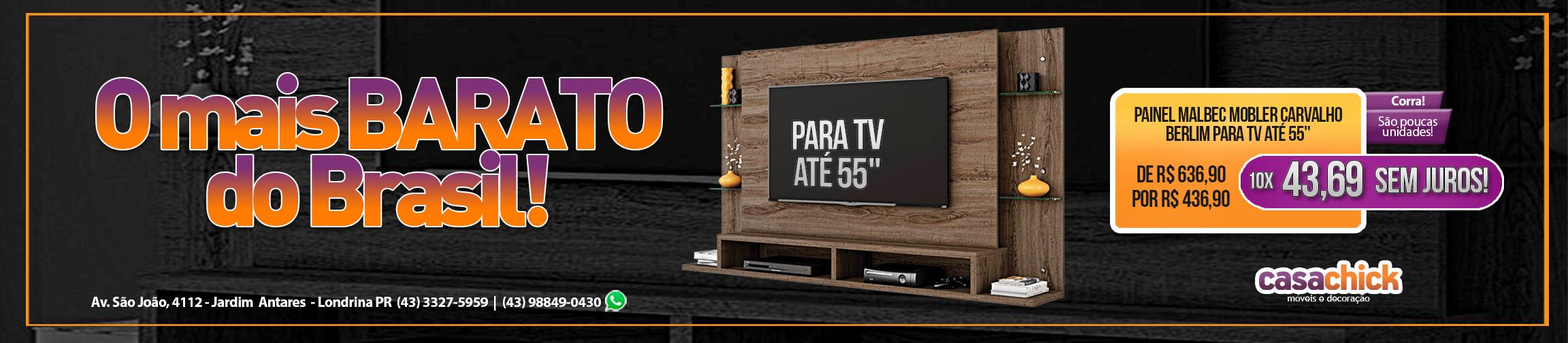 o painel de tv mais barato do Brasil