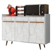 Aparador Buffet Quartzo Branco/Carrara Móveis Bechara