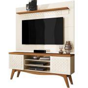 Bancada Lis e Painel Win Frade Off White/Coral Tv até 65'