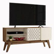 Bancada Premium Frade Movelaria Canela/Off White Tv até 60'
