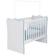 Berço Infantil Doce Sonho Branco/Azul Casa Chick