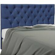 Cabeceira Embaixatriz Casal 140 cm Suede Azul Simbal