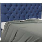 Cabeceira King Estofada Embaixatriz 195 cm Suede Azul Simbal