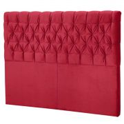 Cabeceira Queen Estofada Florença 160 cm Vermelho Perfan Móveis