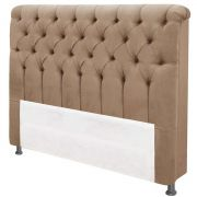 Cabeceira Imperatriz Casal 140 cm Suede Bege II Simbal