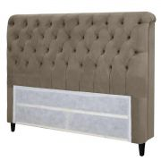 Cabeceira Imperatriz King 195 cm Suede Taupe Simbal