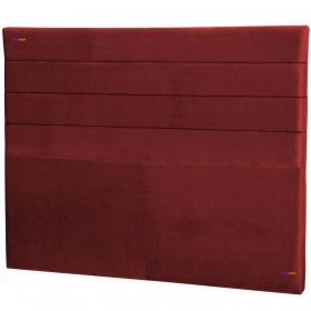 Cabeceira King Estofada Lisboa 195 cm Veludo Vermelho