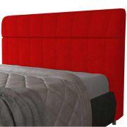 Cabeceira Casal Estofada Madri 140 cm Vermelho JS Móveis
