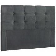 Cabeceira Solteiro Estofada Clean 90 cm Cinza Escuro Simbal