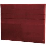 Cabeceira Solteiro Estofada Lisboa 90 cm Veludo Vermelho