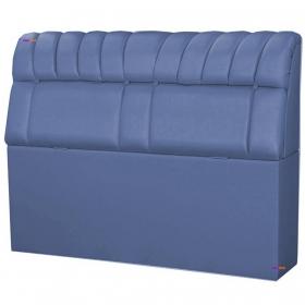 Cabeceira Solteiro Estofada Turim 90 cm Metalizado Azul