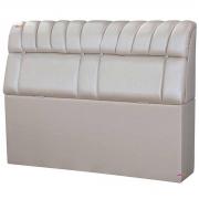 Cabeceira Solteiro Estofada Turim 90 cm Metalizado Off White