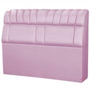 Cabeceira Solteiro Estofada Turim 90 cm Metalizado Rosa