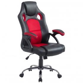 Cadeira Giratória Gamer Extreme Preto/Vermelho Facthus